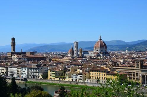 Florence-Piazzale Michelangelo-belvédère-panorama-San Niccolò