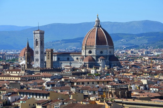 Florence-Piazzale Michelangelo-belvédère-panorama-San Niccolò-Duomo