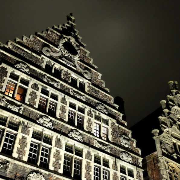 Les façades du Graslei à Gand