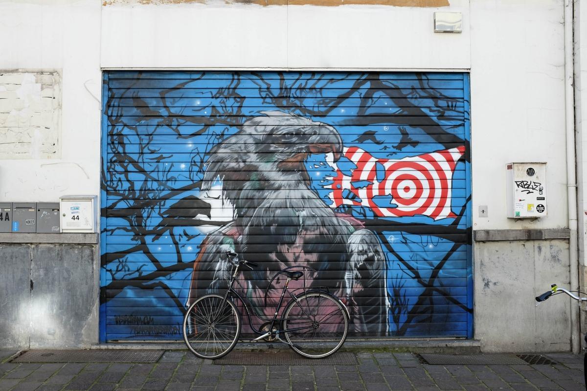 Gand street art eagle