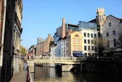 Différents styles architecturaux à Gand