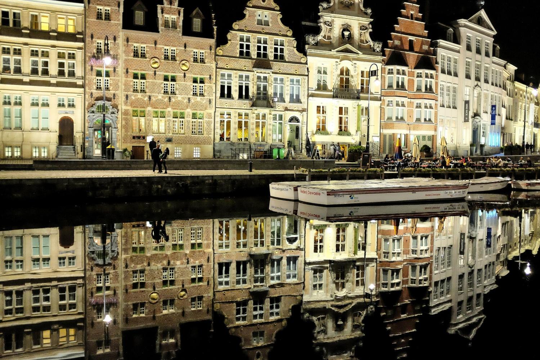 Le plus bel endroit de la ville de Gand, le Graslei