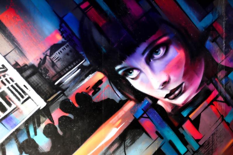 Les graffitis sous le bureau de l'office du tourisme, réalisés par Steve Locatelli