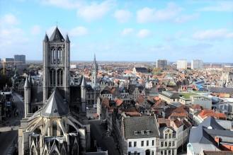 Panorama sur la ville de Gand depuis le beffroi