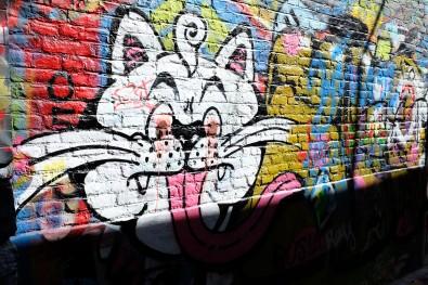 """La ruelle colorée """"Graffiti Street"""" dans la ville de Gand"""