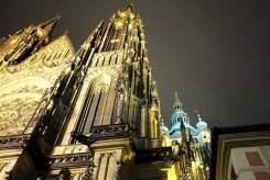 La cathédrale Saint-Guy illuminée