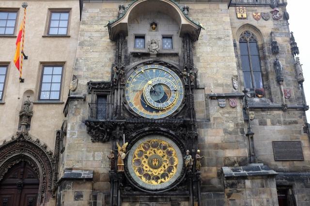 Prague-Staré Město-Staroměstské Náměstí-horloge astronomique