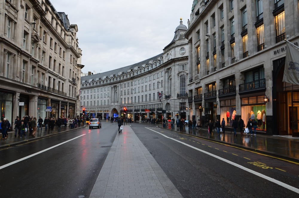 Londres-Regent-street-Westminster-shopping