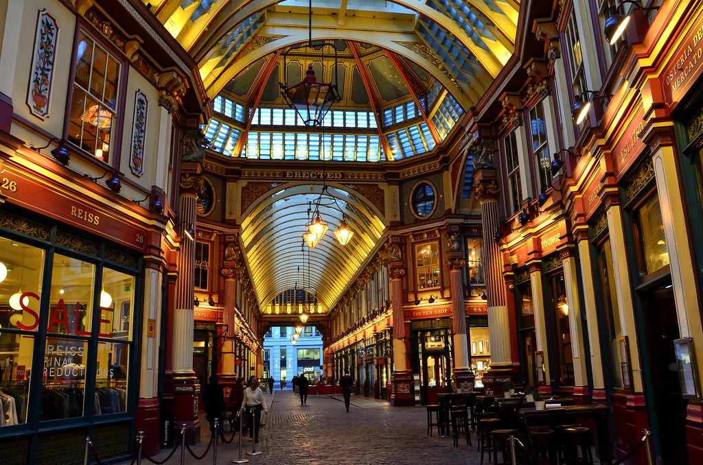 Londres La City Leadenhall Market Gracechurch Street capitale britannique