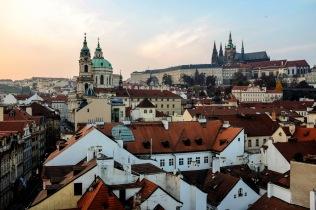 Le Château de Prague (Pražský hrad) et la cathédrale Saint-Guy