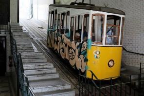 Lisbonne-funiculaire-elevador-da bica-Chiado