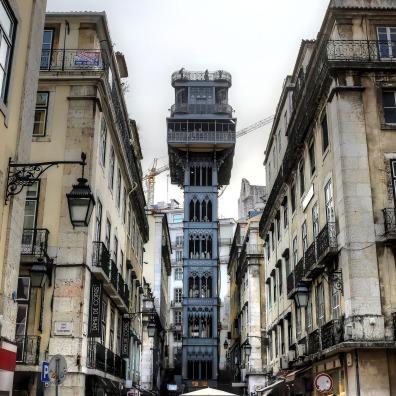 Lisbonne-ascenseur-Santa Justa-elevador-Baixa