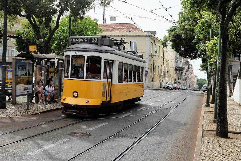 L'Eléctrico 28 le fameux tramway de Lisbonne