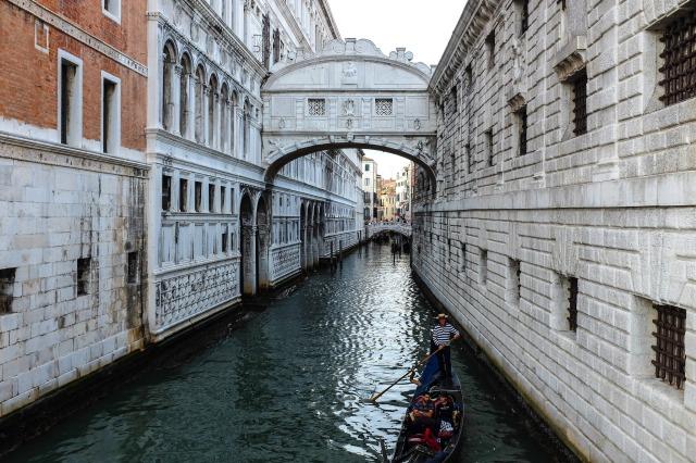 Venise-pont des soupirs-Ponte dei Sospiri-Palais des Doges-Riva degli Schiavoni