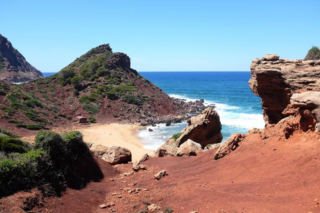 Cala Pilar-Minorque-plage-côte-nord-mer