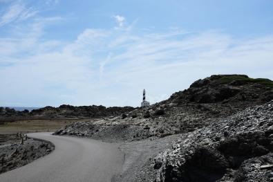La route qui mène au phare de Favàritx sur l'île de Minorque