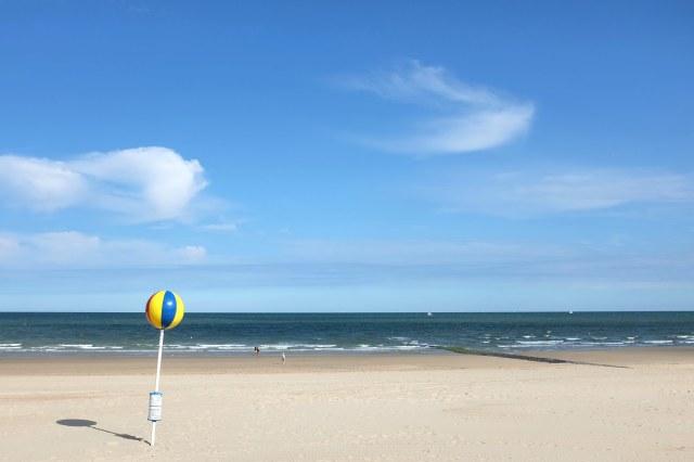 Ostende-plage-reine des plages-mer du nord-Belgique