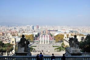 Vue sur Barcelone depuis la colline de Montjuïc