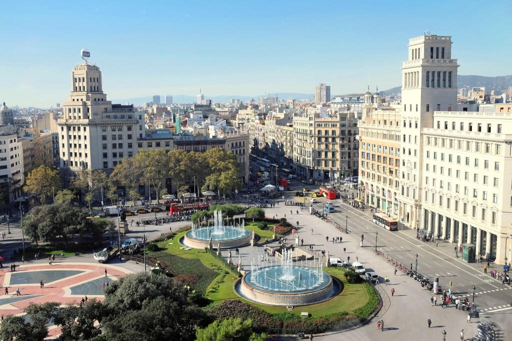 Barcelone-Plaça Catalunya-place-ville