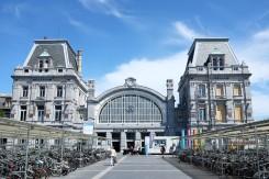 La façade de la gare d'Ostende