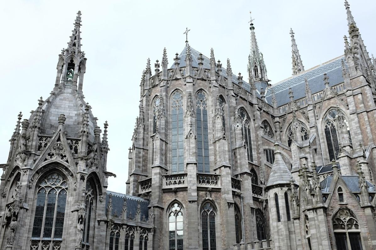 L'église gothique St Petrus et Paulus d'Ostende