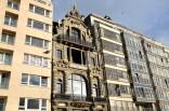 Des façades anciennes et modernes à Ostende