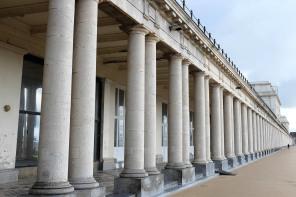 Les arcades des galeries royales d'Ostende