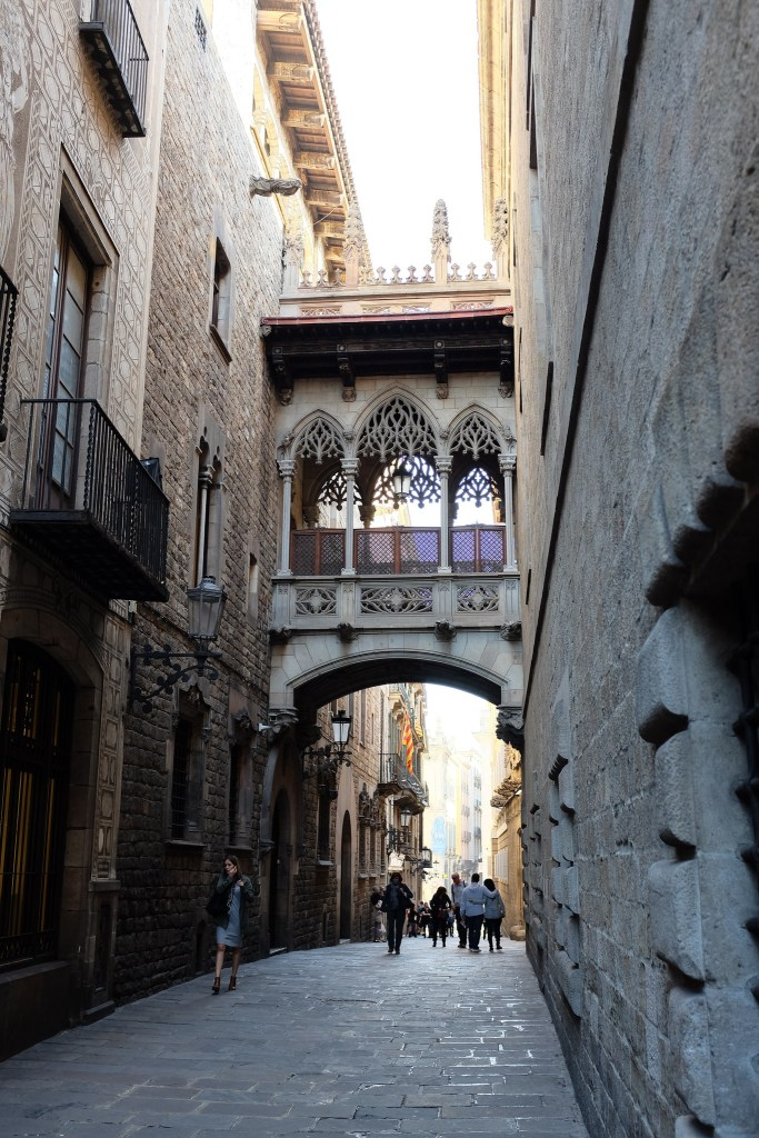 Barcelone-Barri Gòtic-quartier-gothique-ruelle