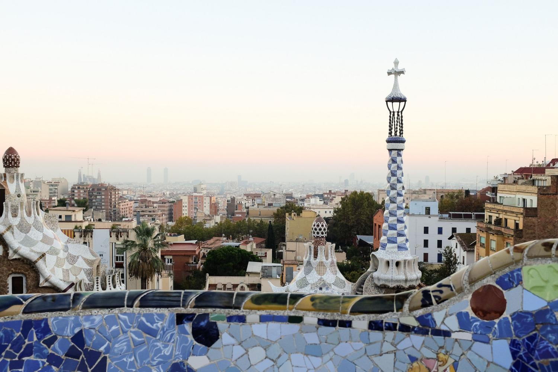 Le parc Güell de Barcelone est l'oeuvre de Gaudí