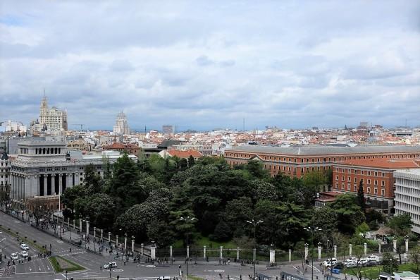 Madrid-panorama-palacio-cibeles-palais de cybèle