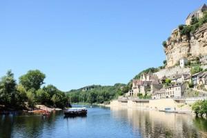 Une gabarre, un bateau traditionnel, sur la Dordogne
