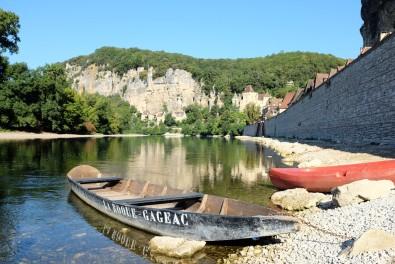 La rivière Dordogne devant La Roque-Gageac
