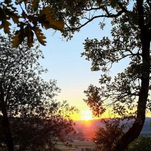 Coucher de soleil depuis les Jardins de Marqueyssac