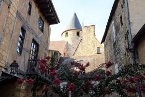 L'architecture du centre de Sarlat dans le Périgord Noir