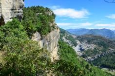 Panorama sur les Alpes depuis le plateau des grès d'Annot