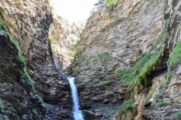 La cascade de la Lance près de Colmars-les-Alpes dans le Haut-Verdon