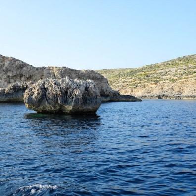 Comino entre les îles de Malte et de Gozo