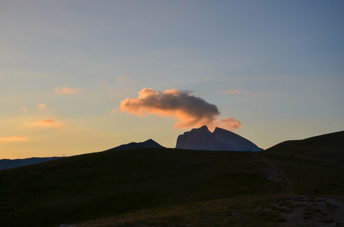 coucher soleil montagne