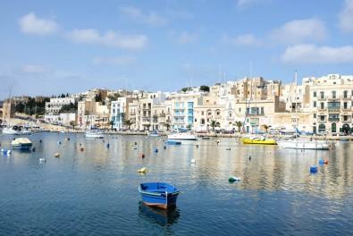 La baie de Kalkara sur l'île de Malte