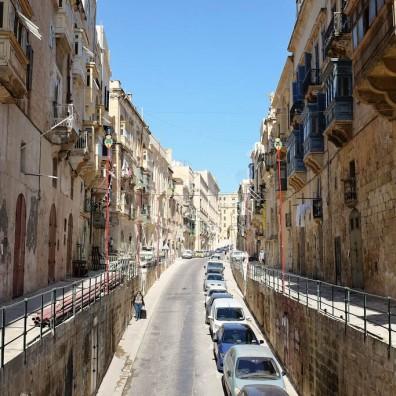 Une rue caractéristique de La Valette