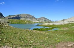 Les lacs de Lignin dans le parc du Mercantour dans les Alpes du sud