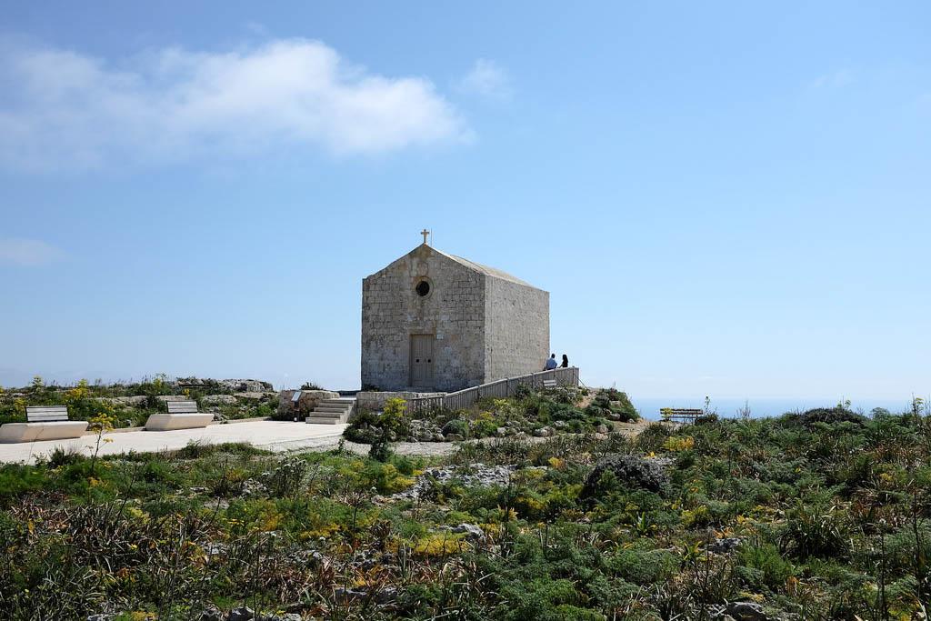 Malta Dingli cliffs chapel