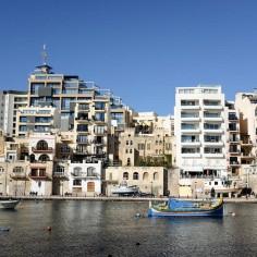 Les immeubles de St Julian's à Malte