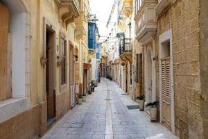 Une ruelle de la ville de Vittoriosa