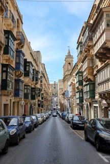 Une rue de la ville de La Valette