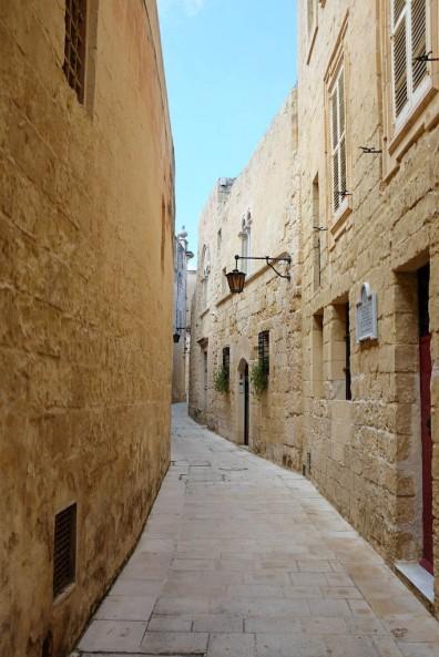 Une ruelle du centre historique de Mdina