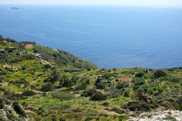 Les paysages sauvages et naturels des Dingli Cliffs