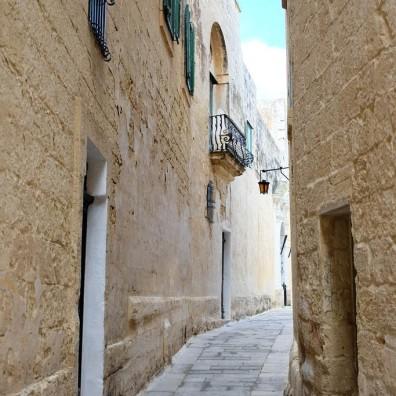 Une ruelle dans la vieille-ville de Mdina