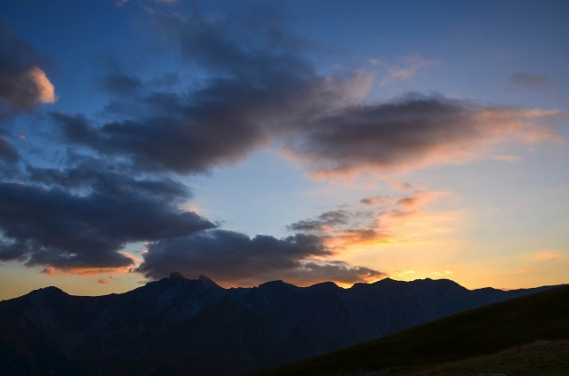 montagnes Alpes mercantour