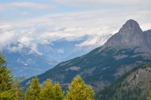 Le col d'Allos dans les Alpes de Haute Provence